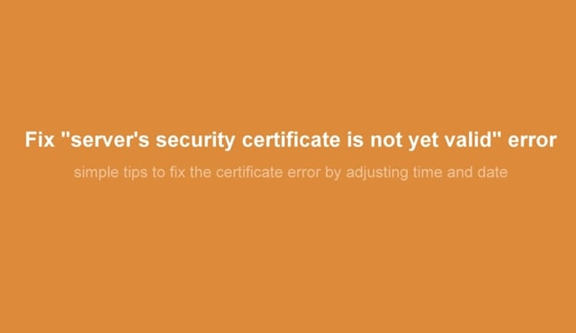How Do You Fix The Certificate For This Server Is Invalid