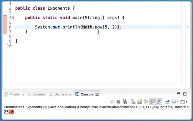 Exceptional Cases To Be Considering When Using The Pow () Method In Java