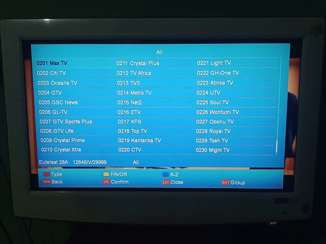 Multi-TV Ghana: How To Install Multi-Stream Channels on Astra 2F at 28.2E