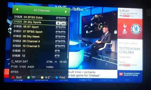 Skysport And BT Sport (BFBS) On NSS-12 At 57E Working On Forever Server Receivers