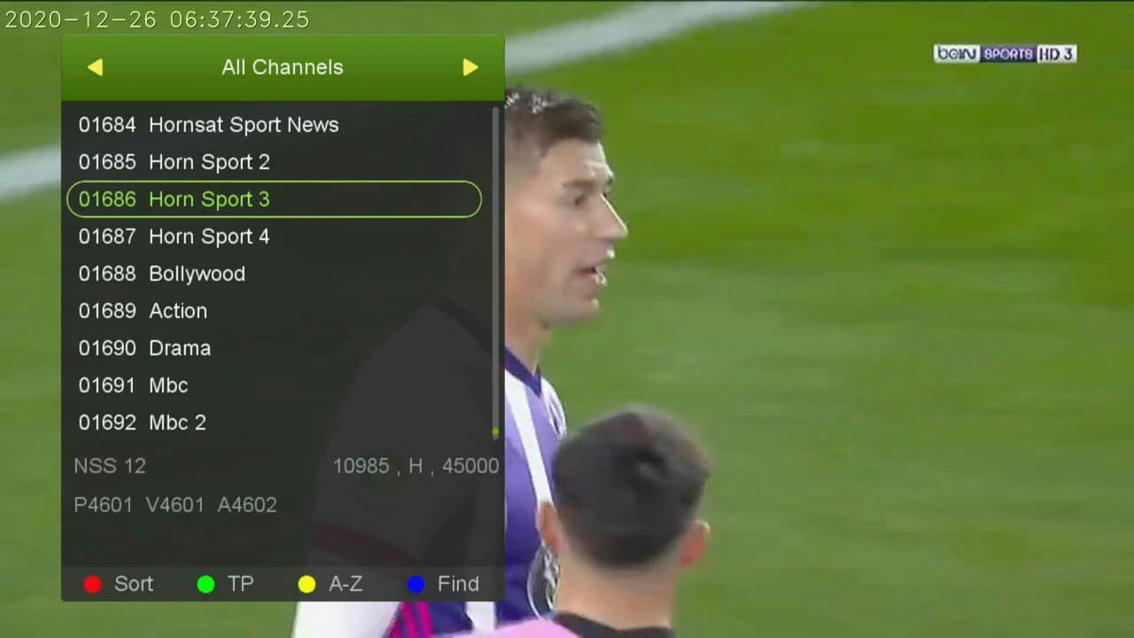 Hornsat Sports Package On NSS-12 At 57.0E