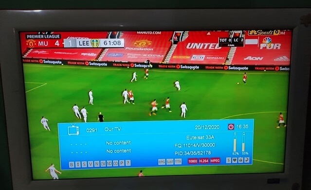 Our TV On Intelsat 28 at 32.9E