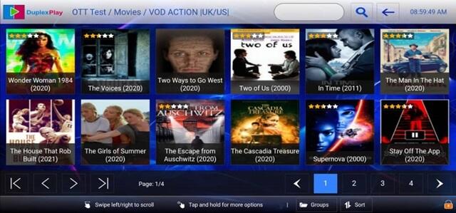 OTT Plus 4K IPTV App