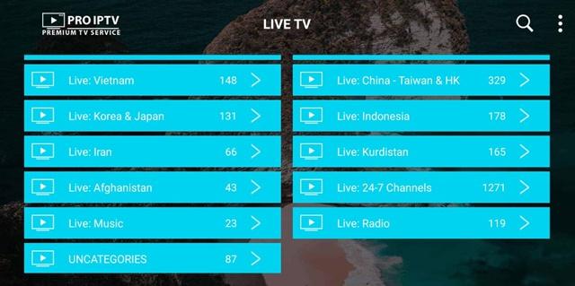 Iran, Iraq, China, Malaysia Channels