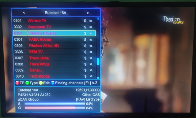 Passion Novela On Eutelsat 16A