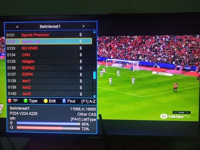 SLTV On Belintersat 1 at 51.5°e